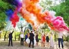 Цветной дым для свадьбы в Чебоксарах